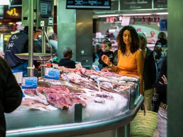 Halles de Sète, marché aux poissons