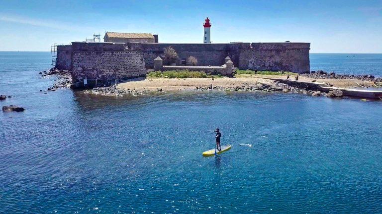 Paddle face au fort Brescou