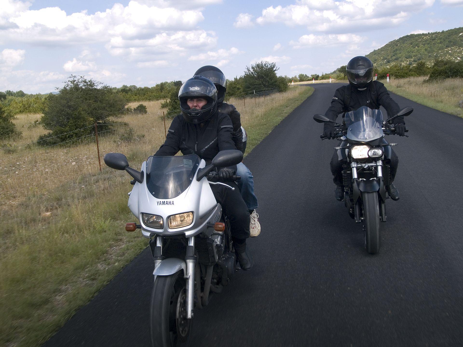 Balade moto dans l'Hérault