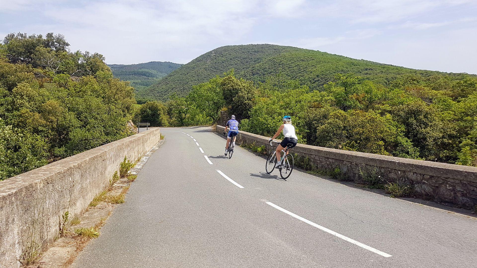 Cyclistes sur la boucle cyclo n°12
