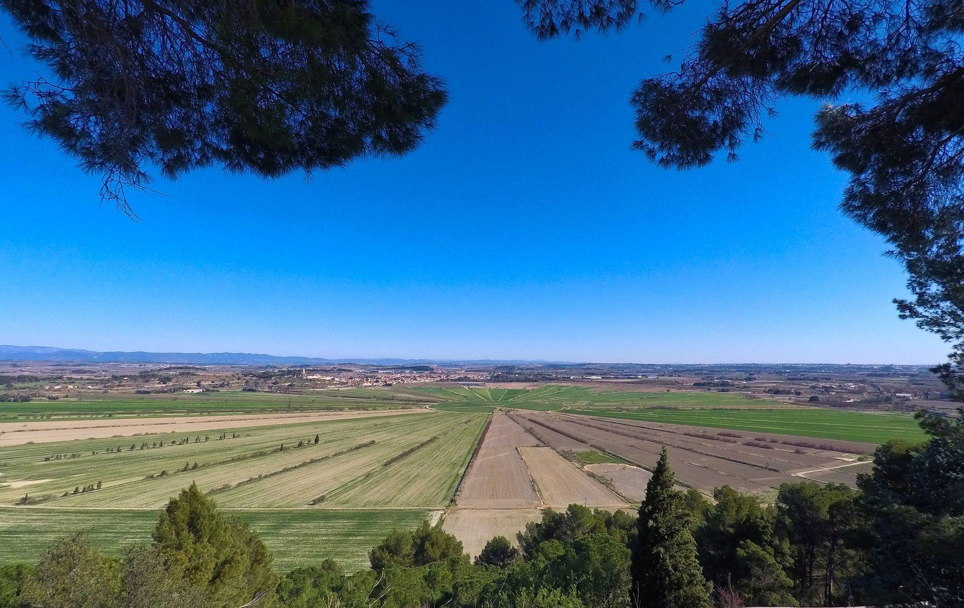 L'étang de Montady vue depuis l'oppidum d'Ensérune