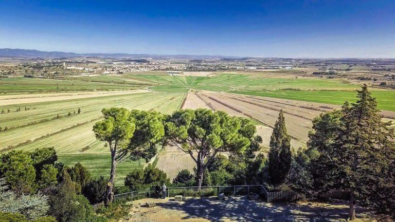 L'étang de Montady vu depuis l'oppidum d'Ensérune