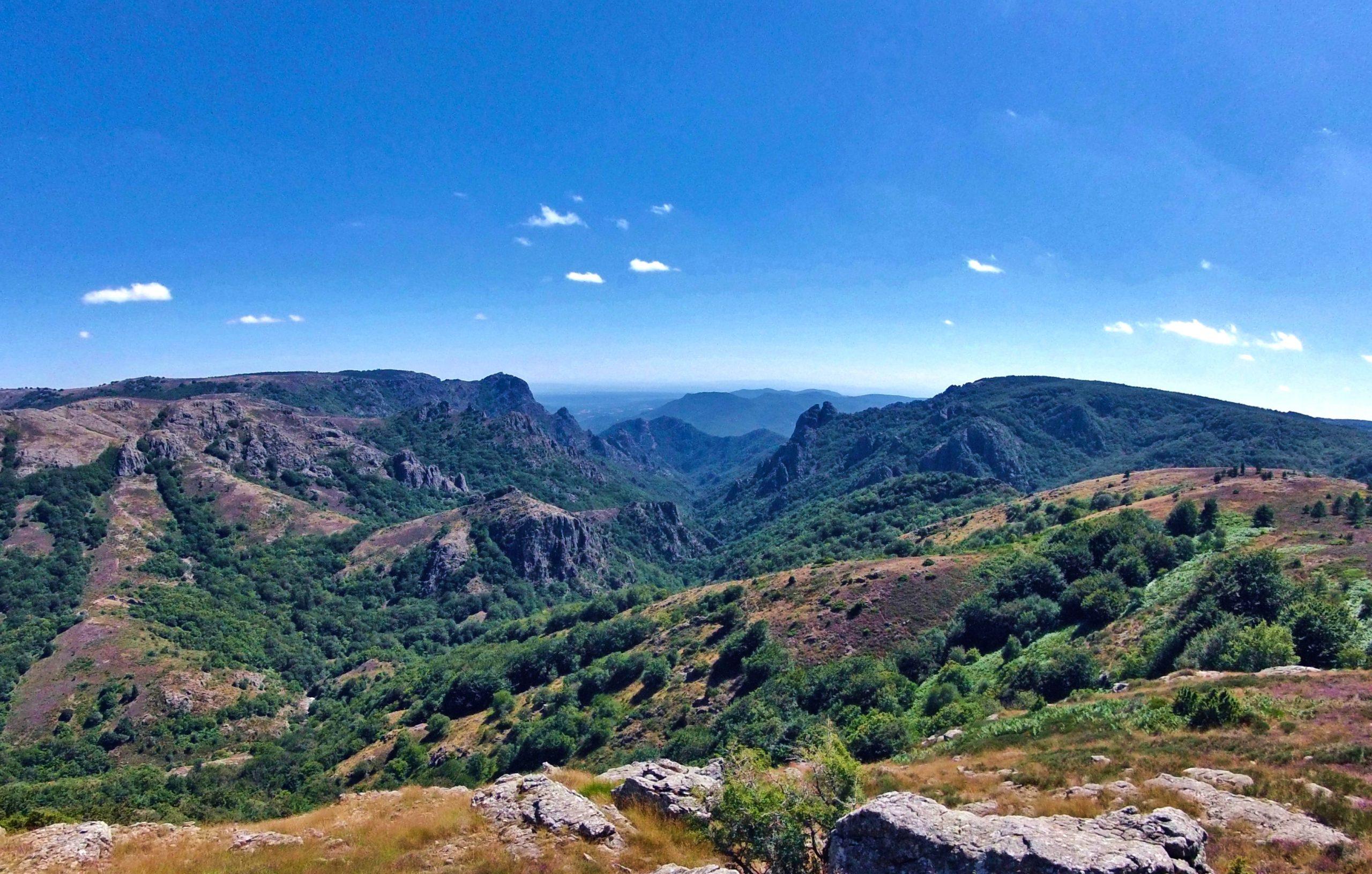 Panorama depuis les monts de l'Espinouse