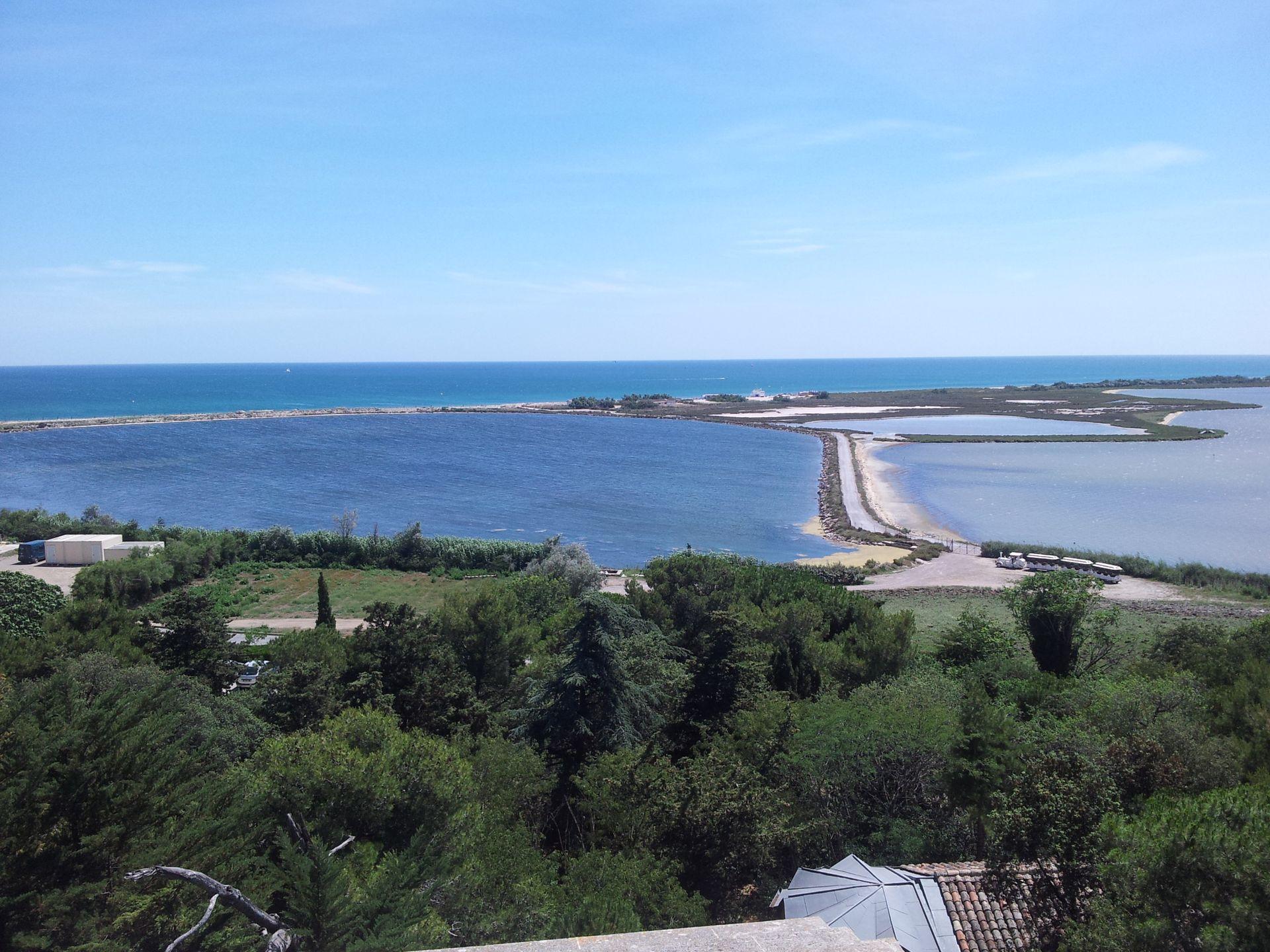 Vue aérienne de la presqu'île de Maguelone