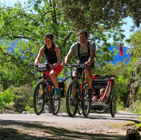 Voie Verte Passa Païs en Vélo en famille