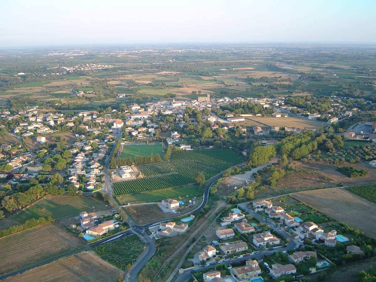 Vue aérienne de Saint-Christol