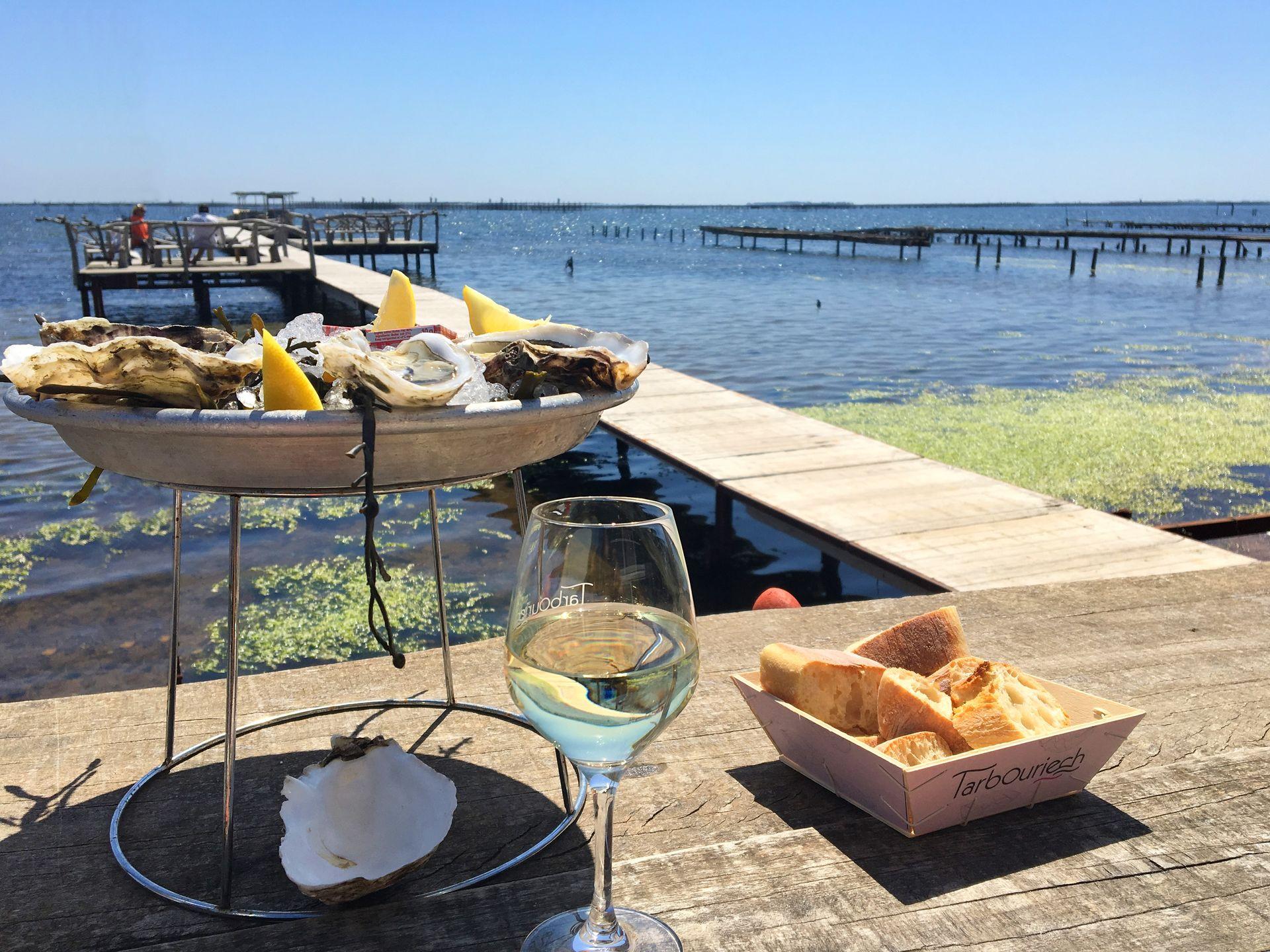 huîtres vin étang de thau