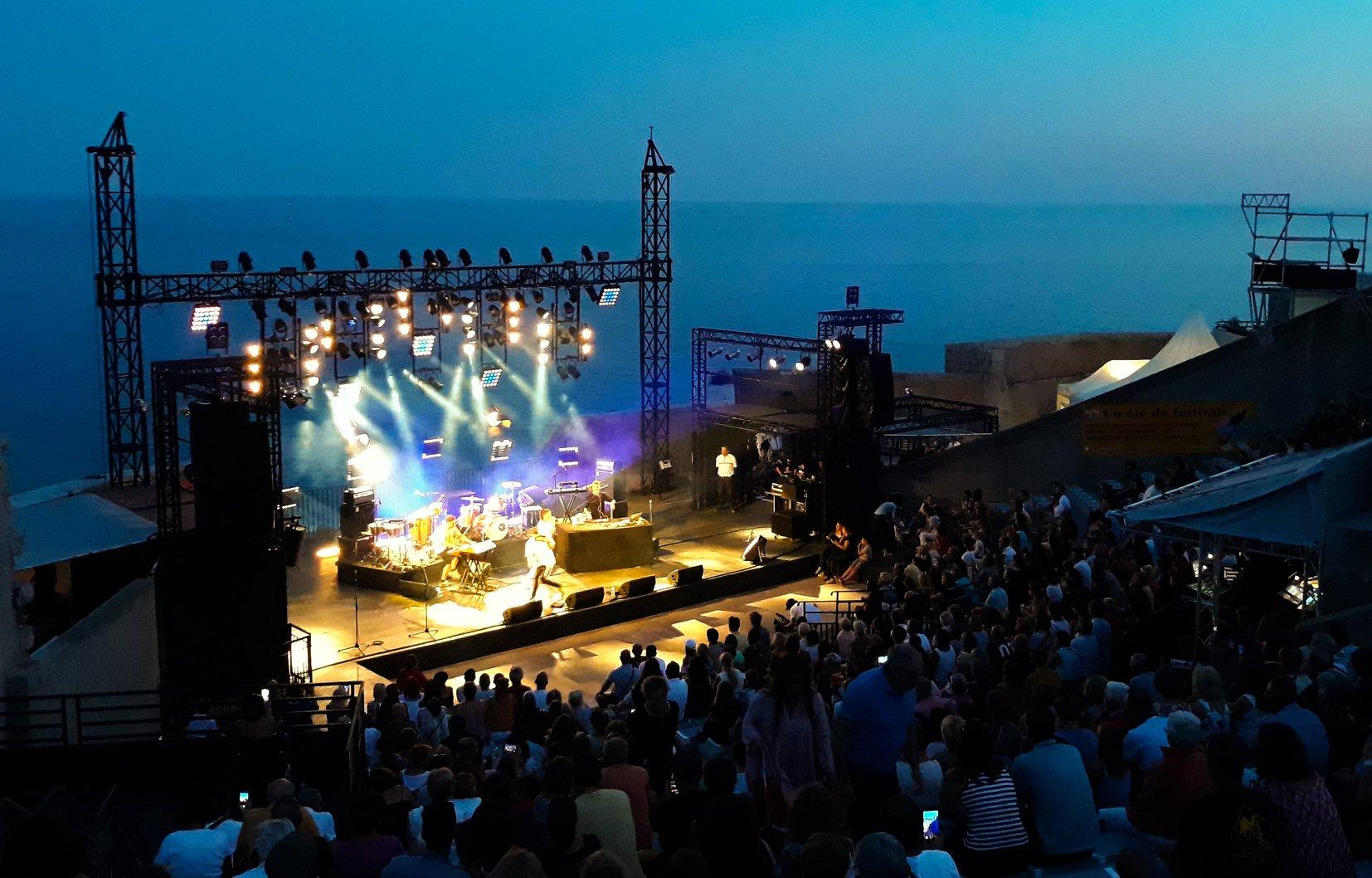 Concert au Théâtre de la Mer à Sète