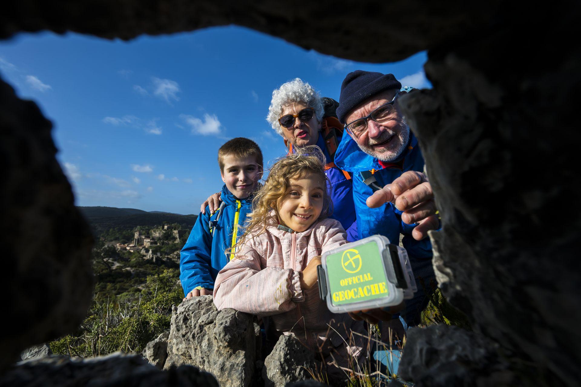 Geocaching à Mourèze