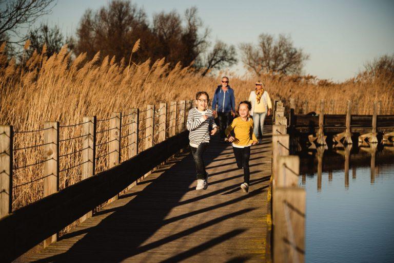 Balade en famille à la Maison de la Nature au bord de l'étang du Méjean