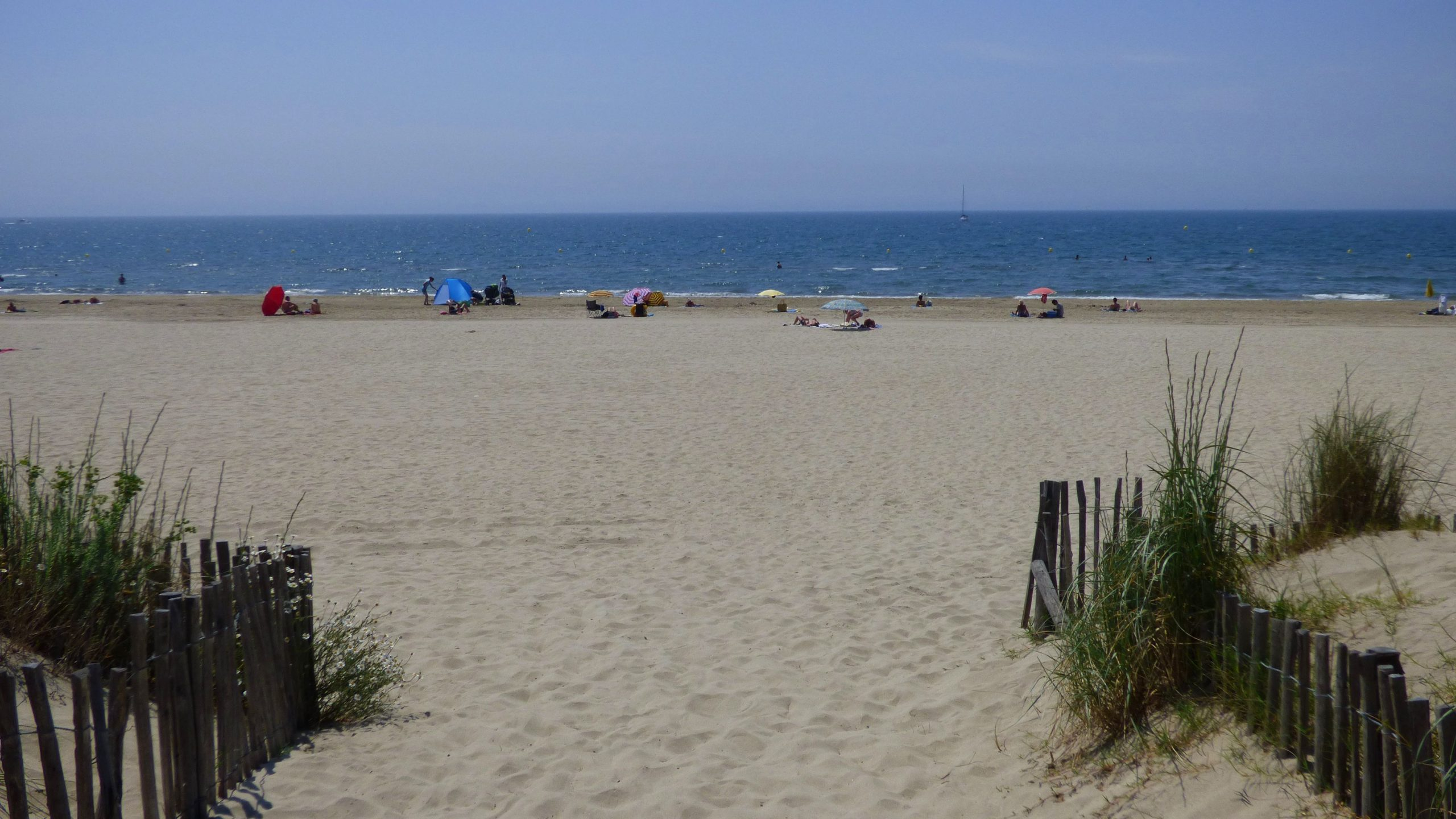Plage de la Grande Motte, son sable fin