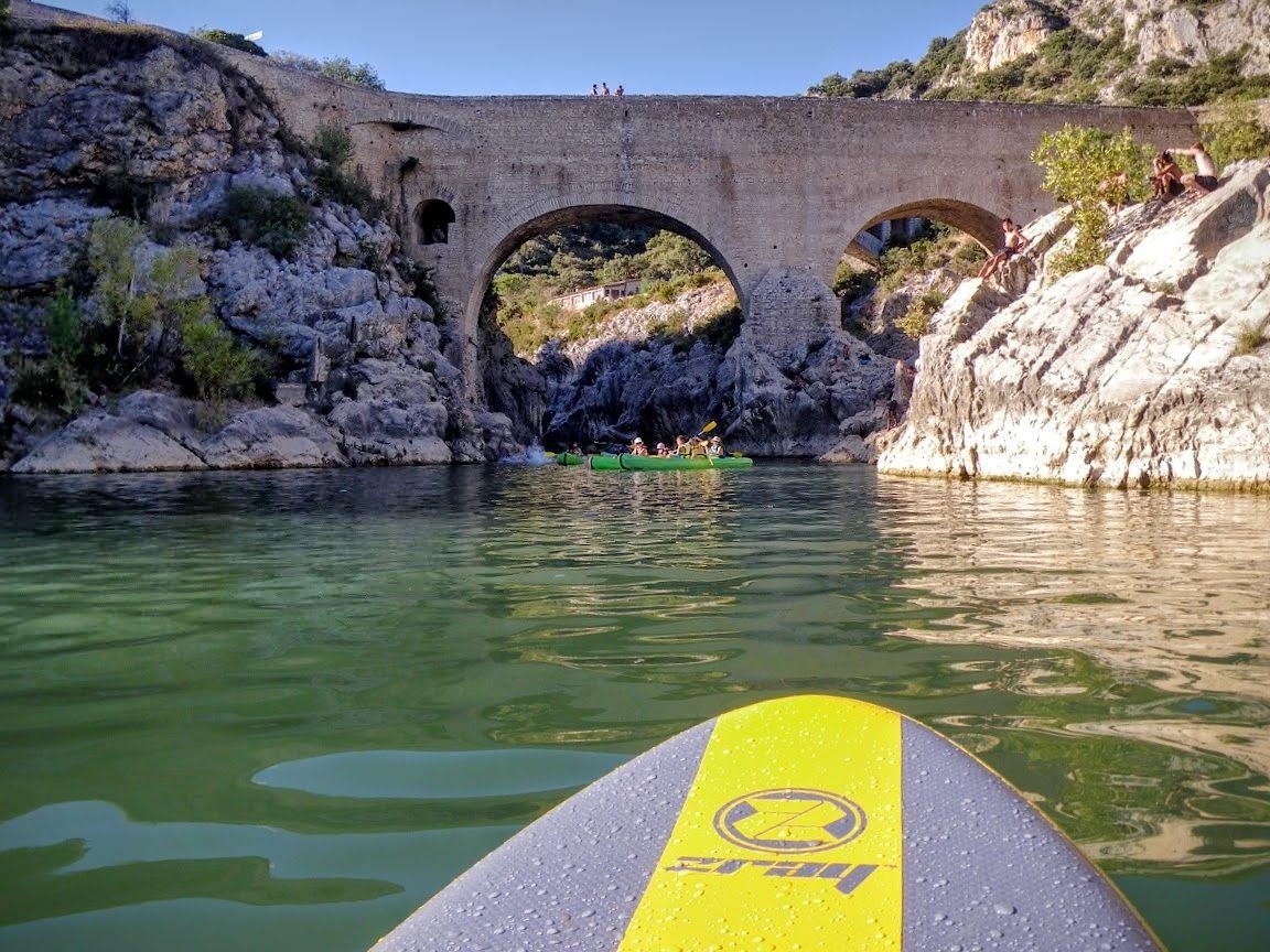 Paddle sur l'Hérault au Pont du Diable
