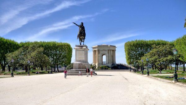 Esplanade du Peyrou à Montpellier