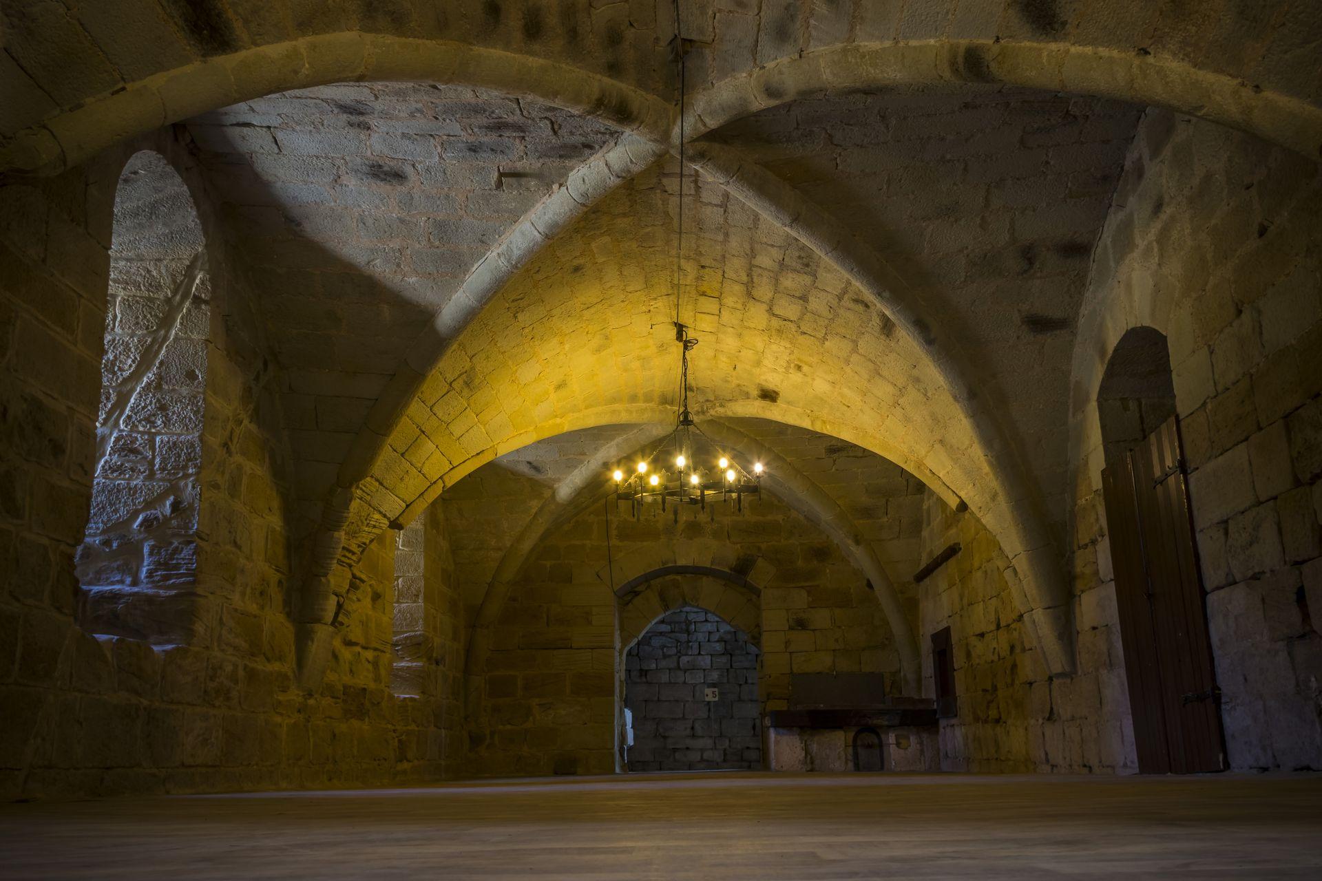 Salle du Chapitre, au Prieuré St-Michel de Grandmont