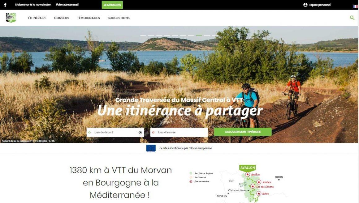 Site internet Grande Traversée du Massif Central à VTT