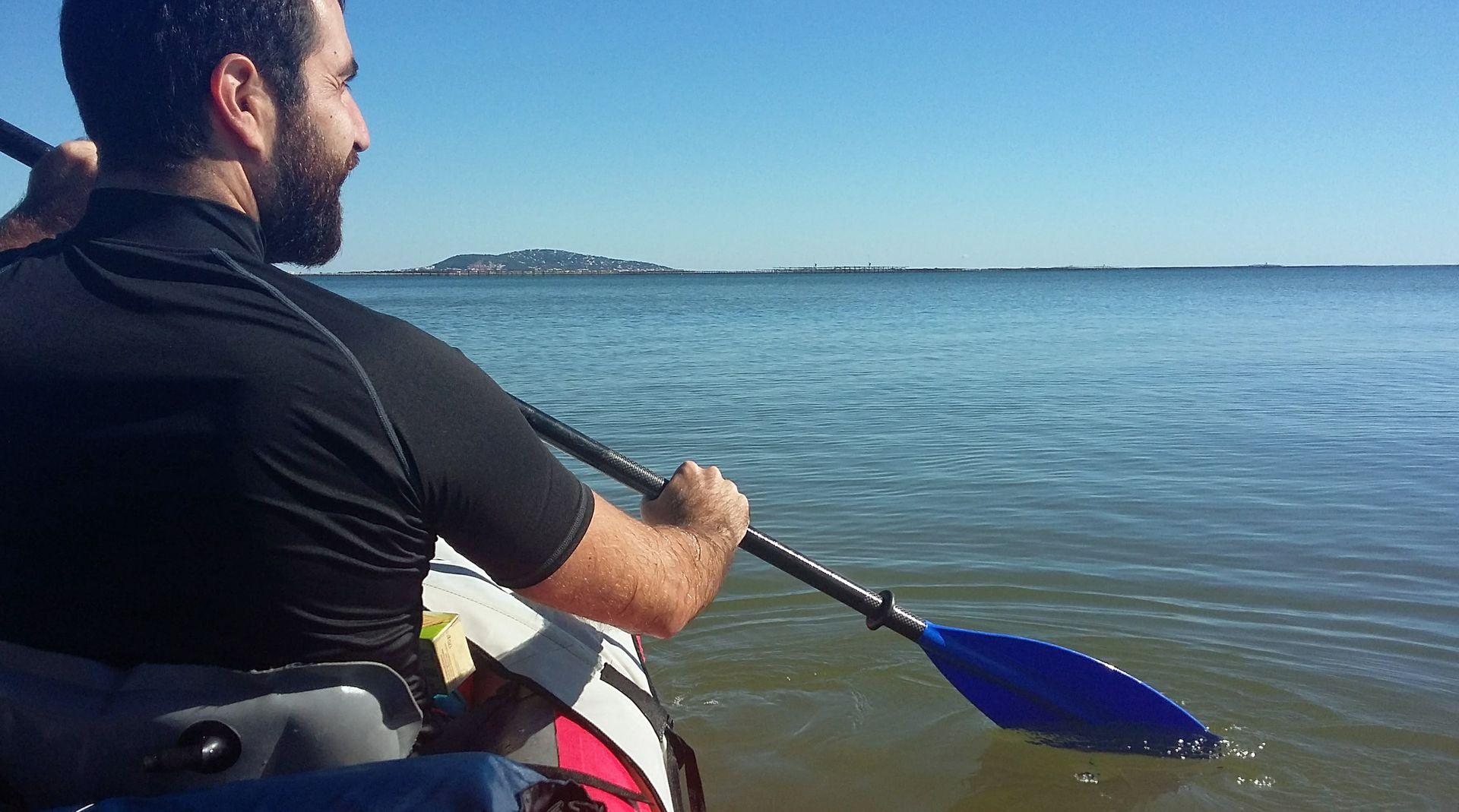 Balade en kayak sur l'étang de Thau et vue sur Sète