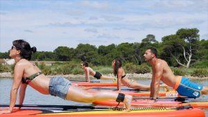 Yoga Paddle sur l'étang de Thau