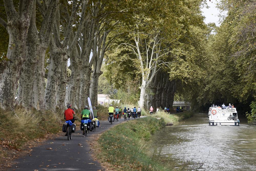 slow tourisme - Itinérants à vélo sur le Canal du Midi