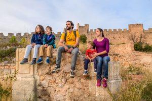 Famille au Castellas de Montpeyroux