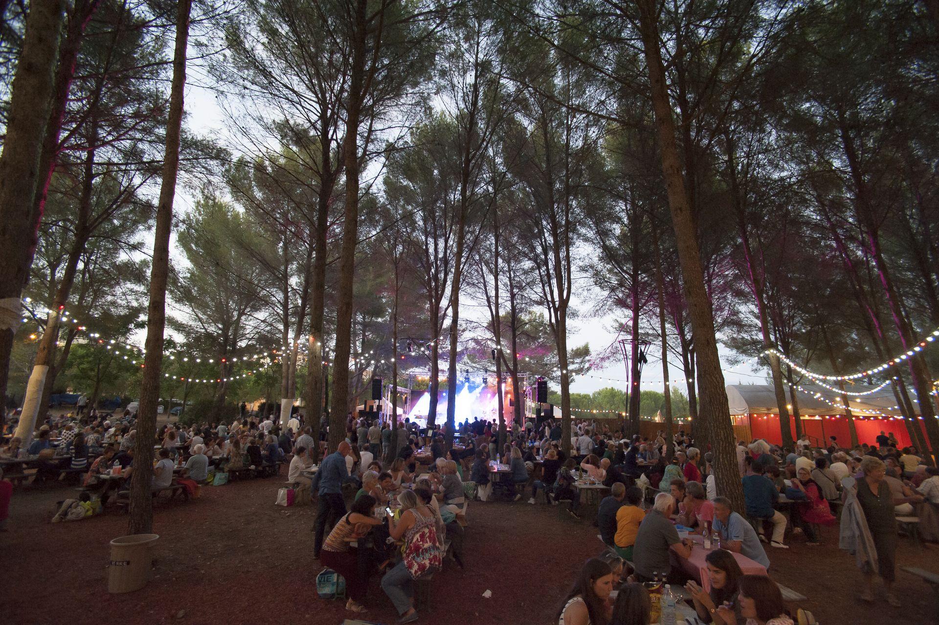Place aux spectacles du Domaine d'O pendant le Festival des Nuits d'O