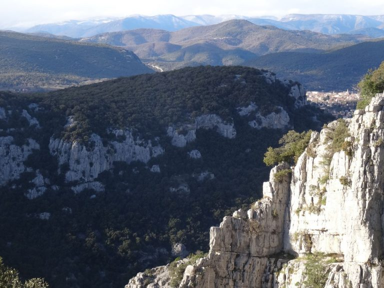 Payasage du haut de Thaurac vers les Cévennes