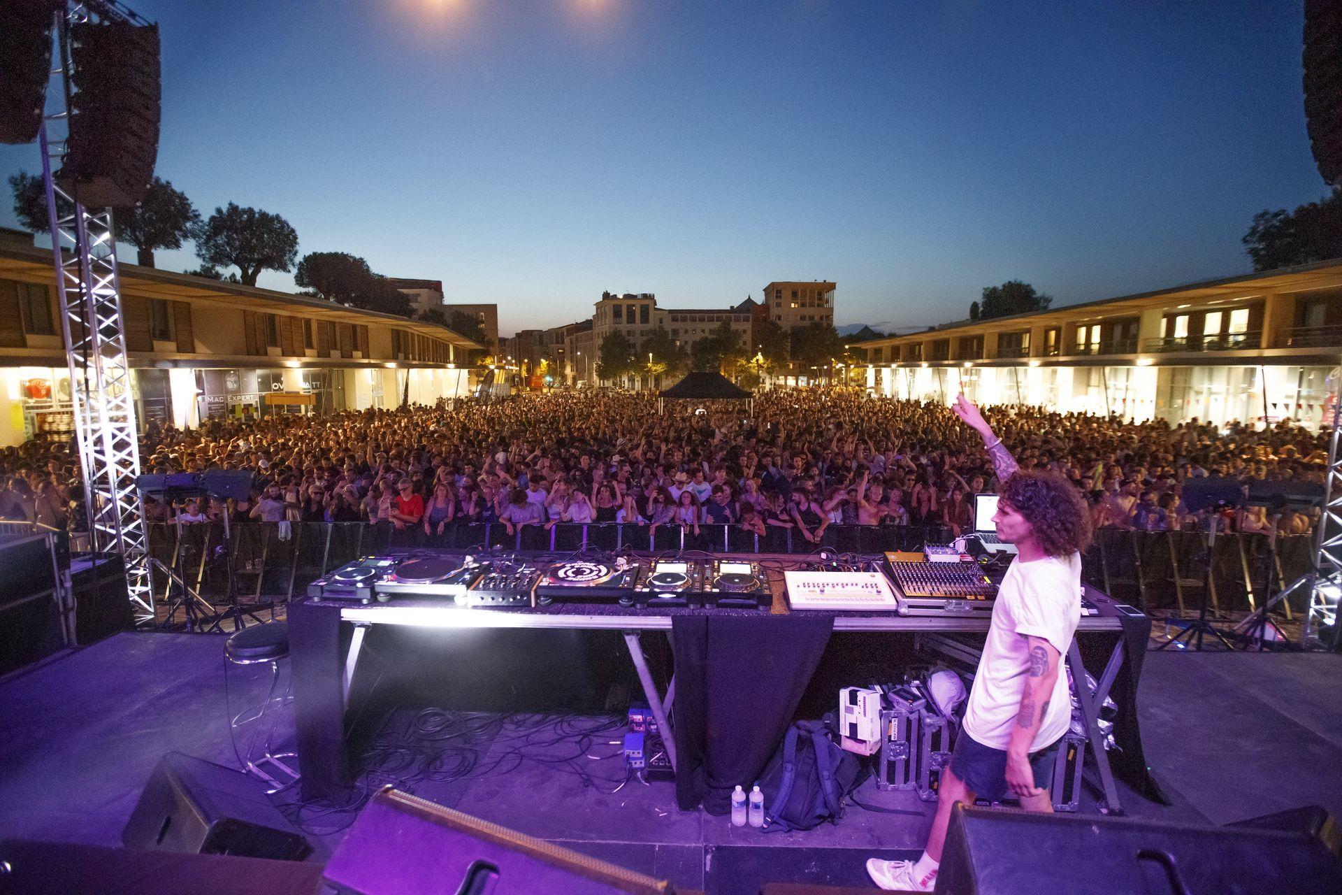 Festival électro sur la place de la nouvelle Mairie à Montpellier © CH.Ruiz Montpellier3M