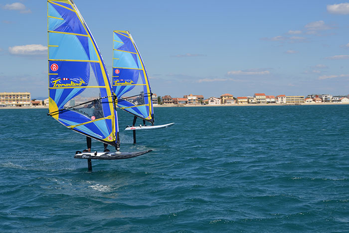 Windfoil sur l'étang d'Ingril avec Tramonta Windsurf