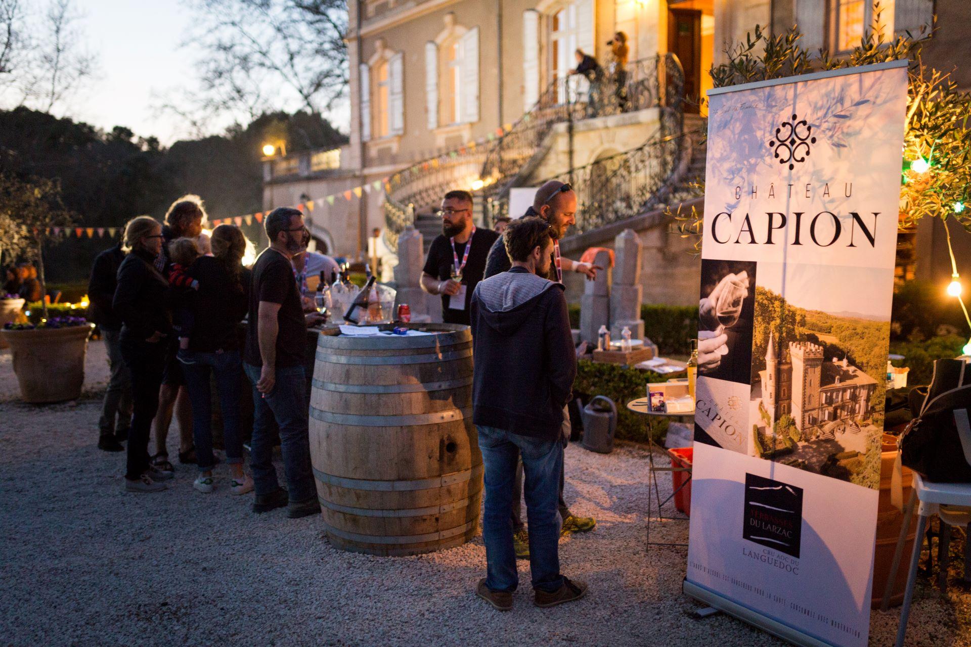 Soirée festive en extérieure au Domaine Capion à Aniane