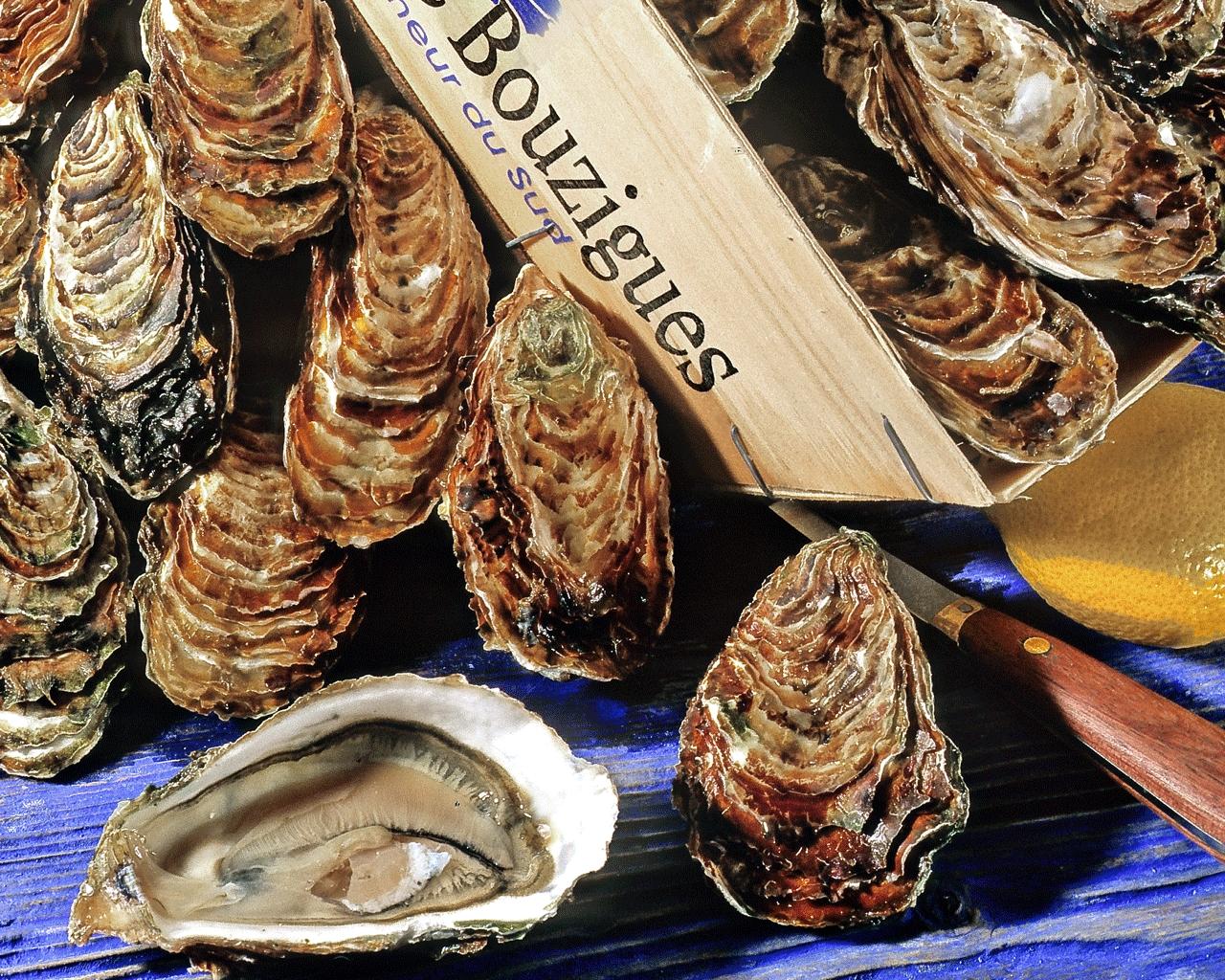 Cagette d'huîtres de Bouzigues