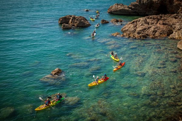 Kayak de mer à Sète