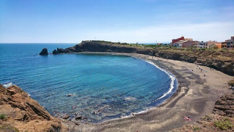 Vue d'ensemble de la plage de la grande Conque au Cap d'Agde