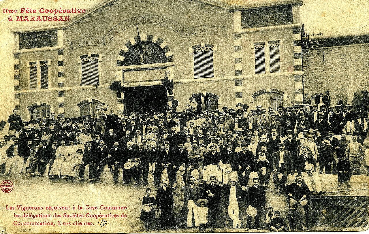 Photo d'archive d'Une fête coopérative à la Cave de Maraussan