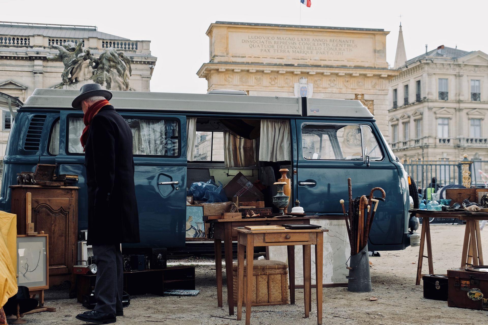 Brocanteurs aux Dimanches du Peyrou © Marie Frayssinet