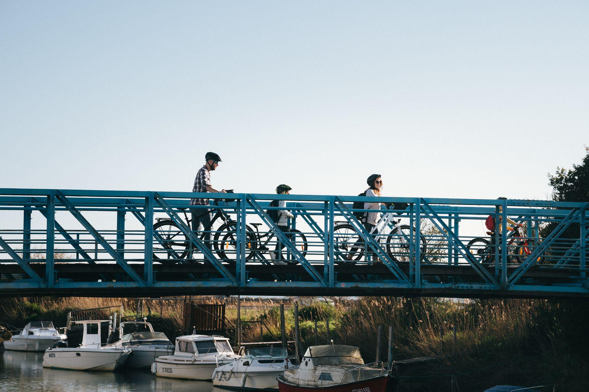 A vélo entre Montpellier et Palavas en famille