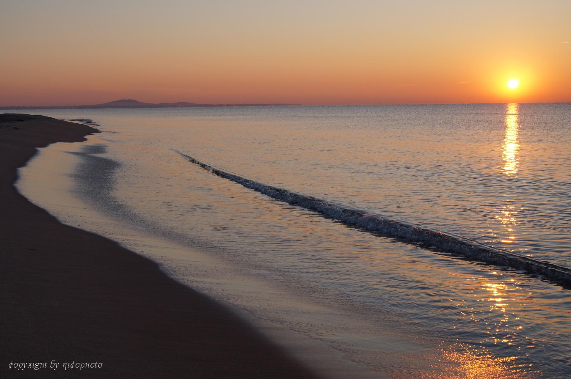 Lever de soleil sur la plage de Sérignan