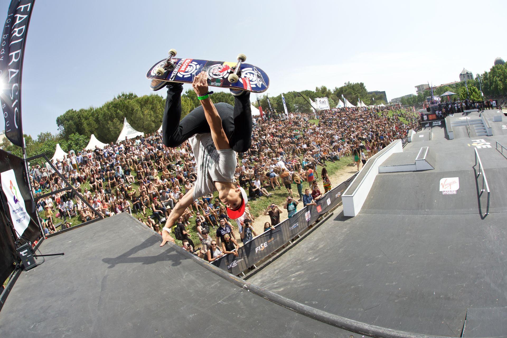 Skateboard au FISE © Cedric Derodot