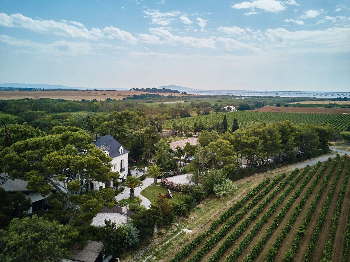 Vue aérienne du Domaine de Tarbouriech
