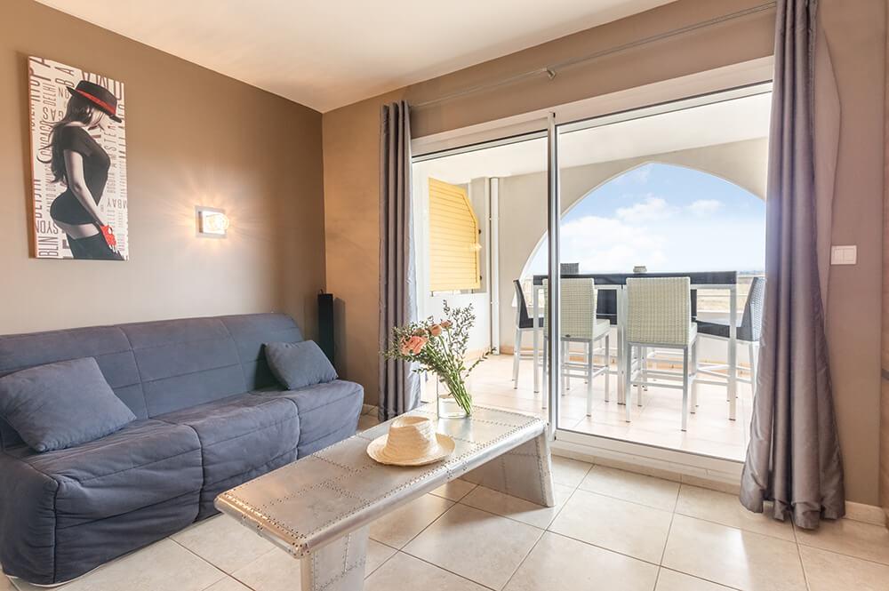Chambre appartement au Natureva Spa Cap d'Agde