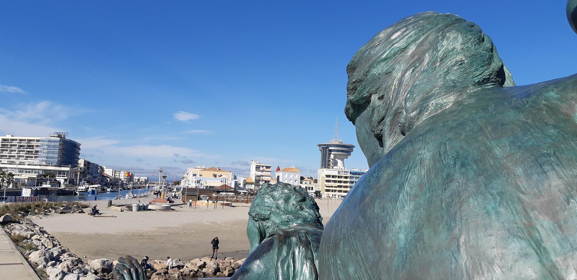 Palavas, Statue l'Espoir regardant vers la rive gauche
