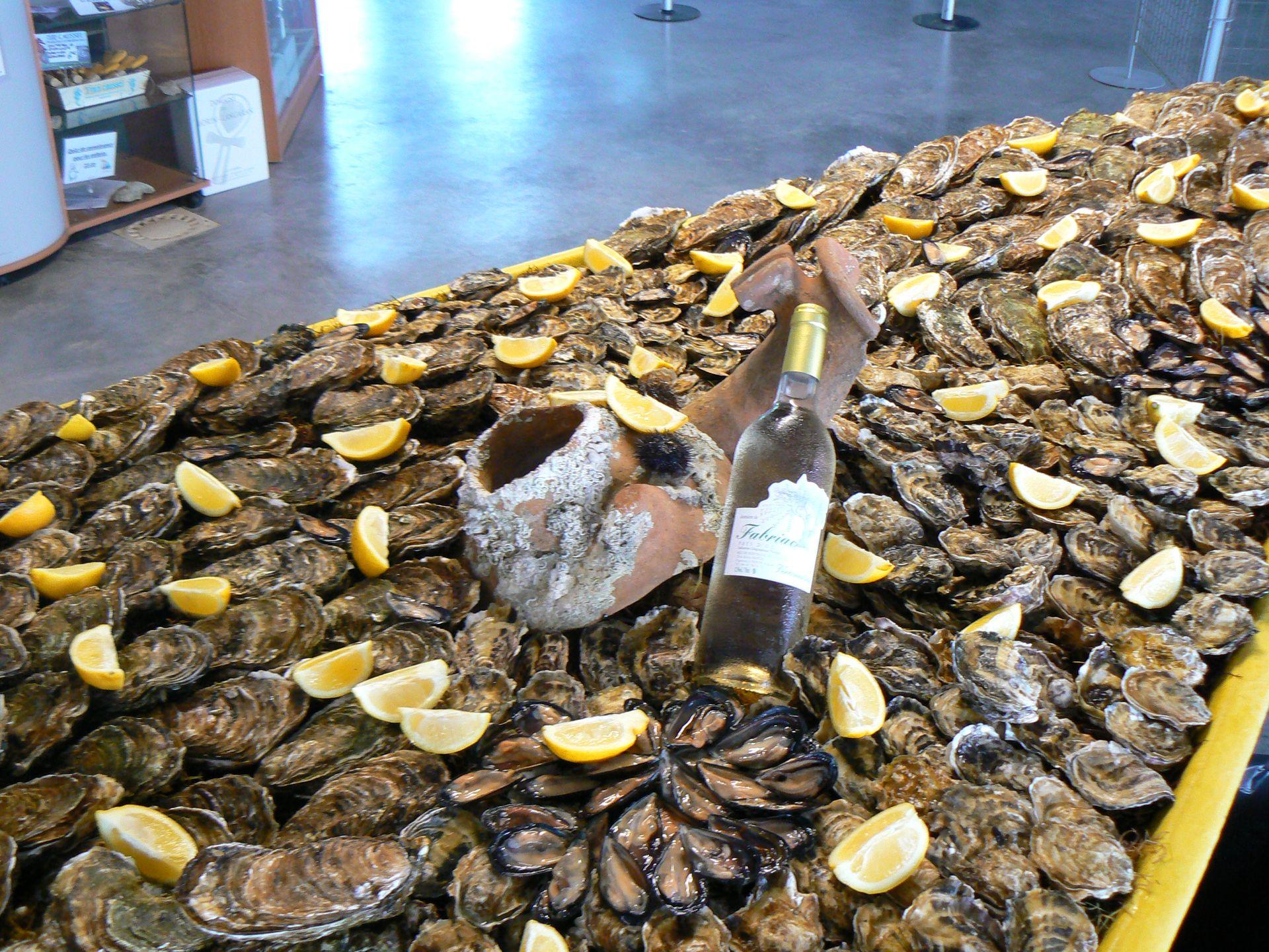 Barque d'huîtres avec La Noisette d'Oc