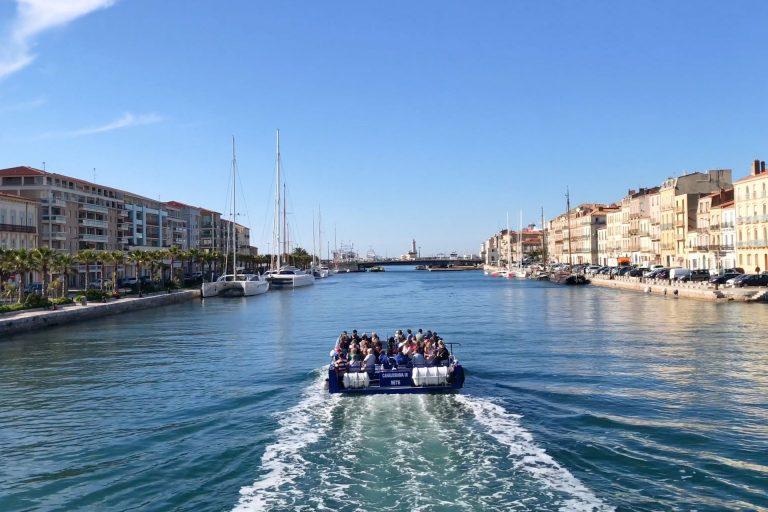 Bateau bus sur les Canaux de Sète