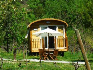 Roulotte au Camping Domaine d'Anglas