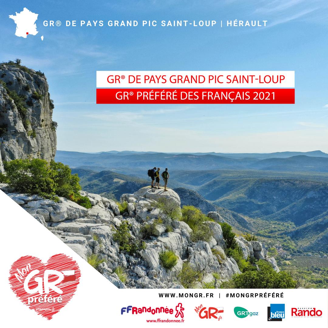 GR® de Pays Grand Pic St-Loup - le GR® préféré des Français 2021