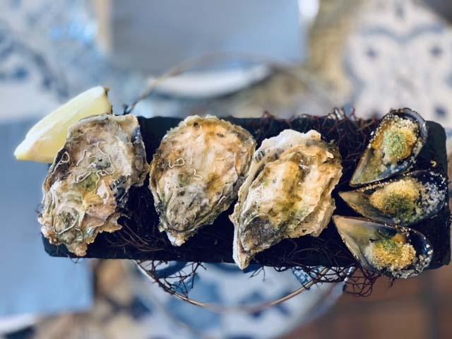 Huîtres gratinées à L'Arseillère