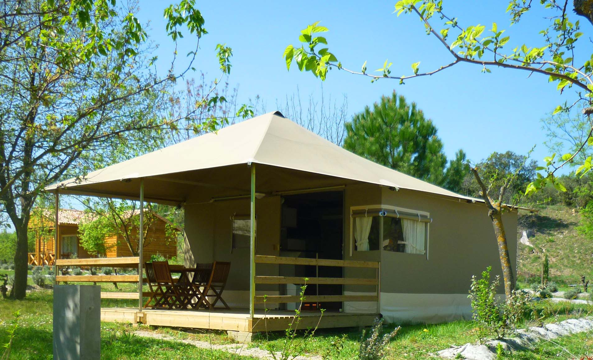 Lodge au Camping Domaine d'Anglas