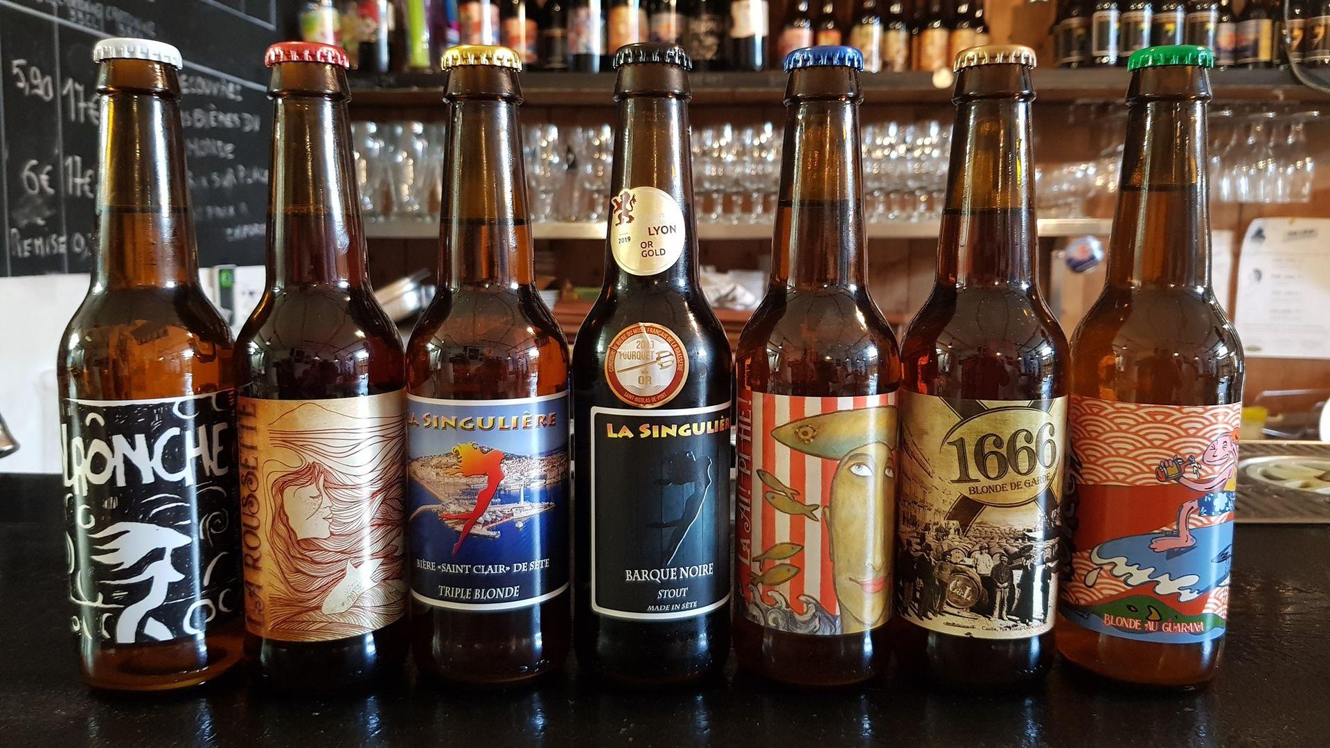 Sète - Bières de la Brasserie Artisanale La Singulière