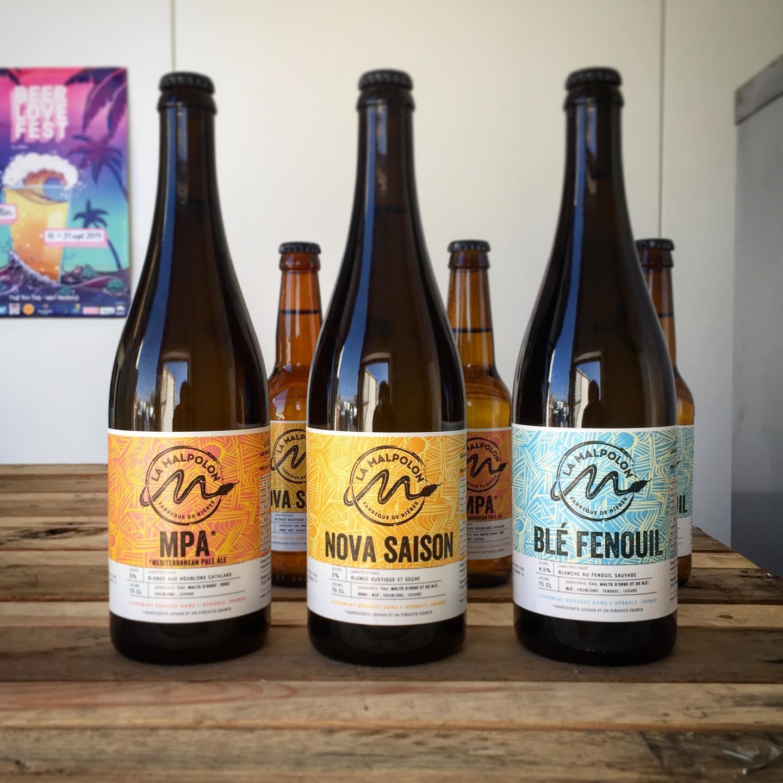 Lavérune - 3 bières de la brasserie artisanale La Malpolon