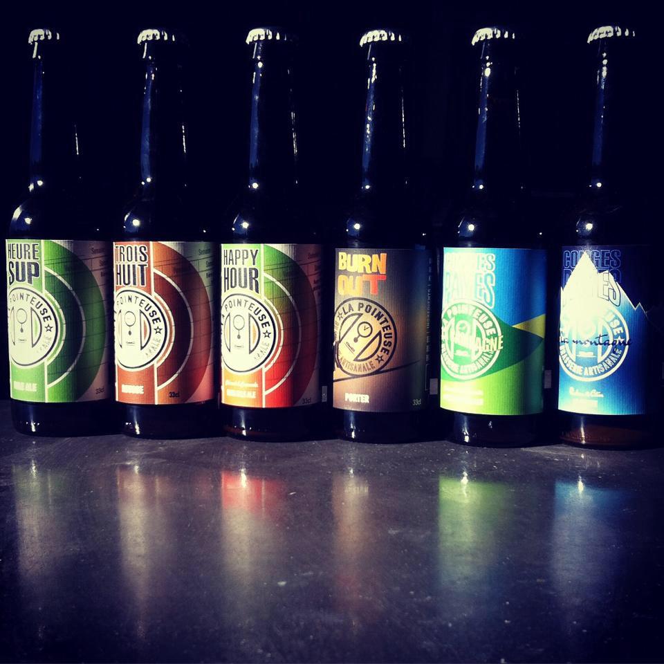 Mauguio - Bouteilles de bières de la brasserie artisanale La Pointeuse