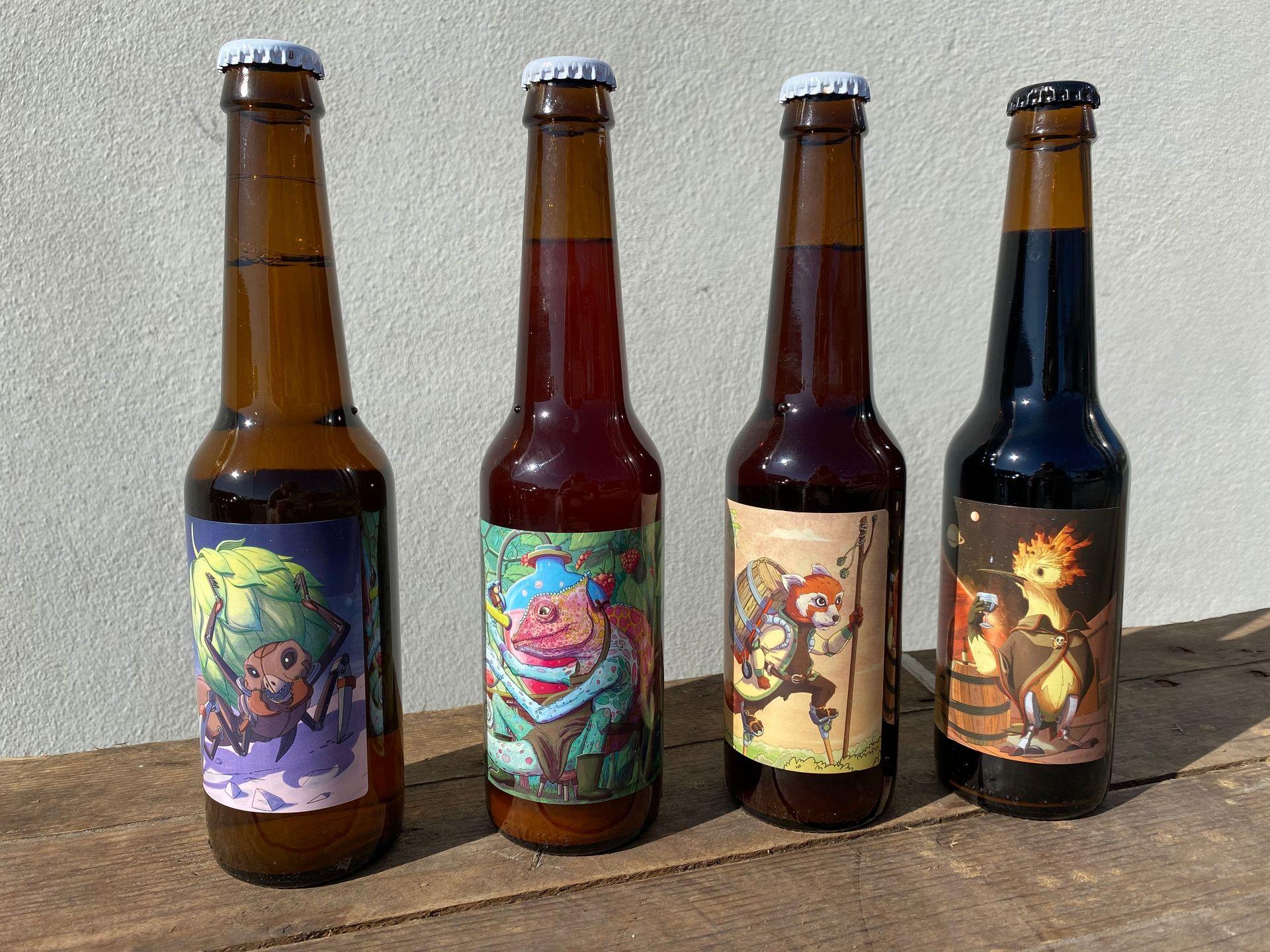 Castelnau le lez, 4 bouteilles de bières de la Brasserie artisanale Zoobrew