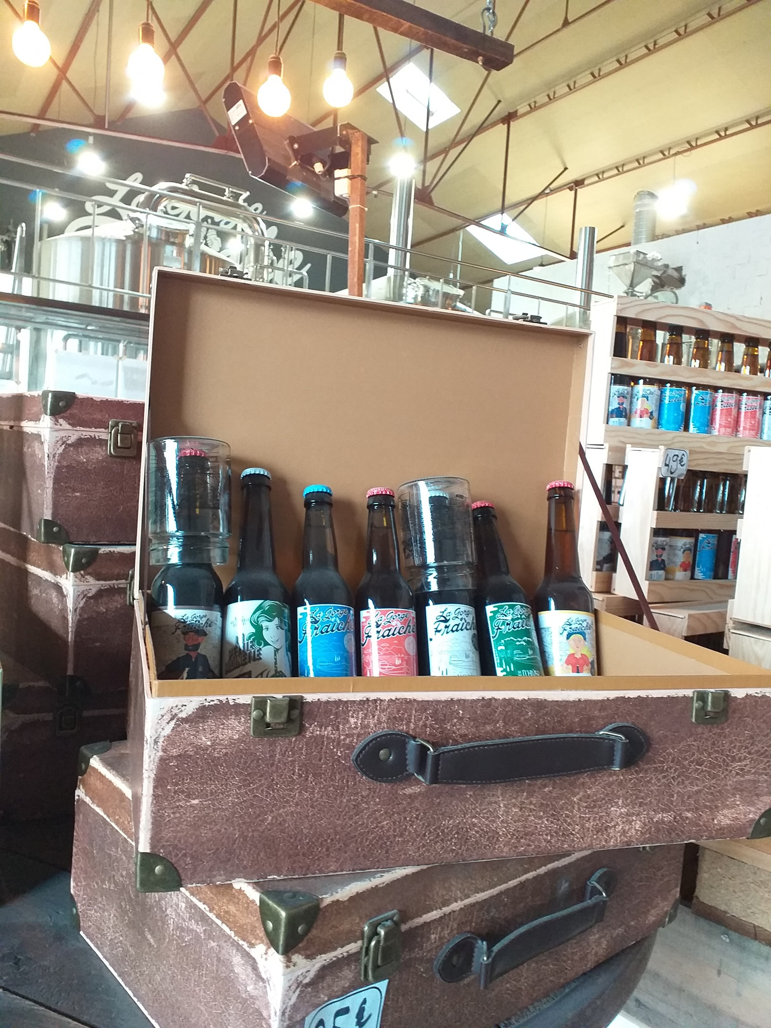 Béziers, 7 bouteilles de bières de la brasserie artisanale La Gorge Fraîche